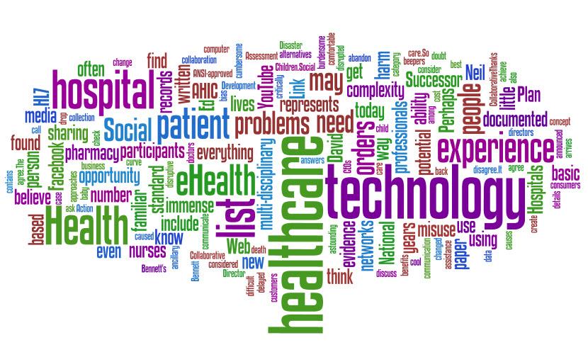 Healthcare & Technology: Wordle Cloud