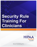 4000 Security Rule Training for Clinicians S